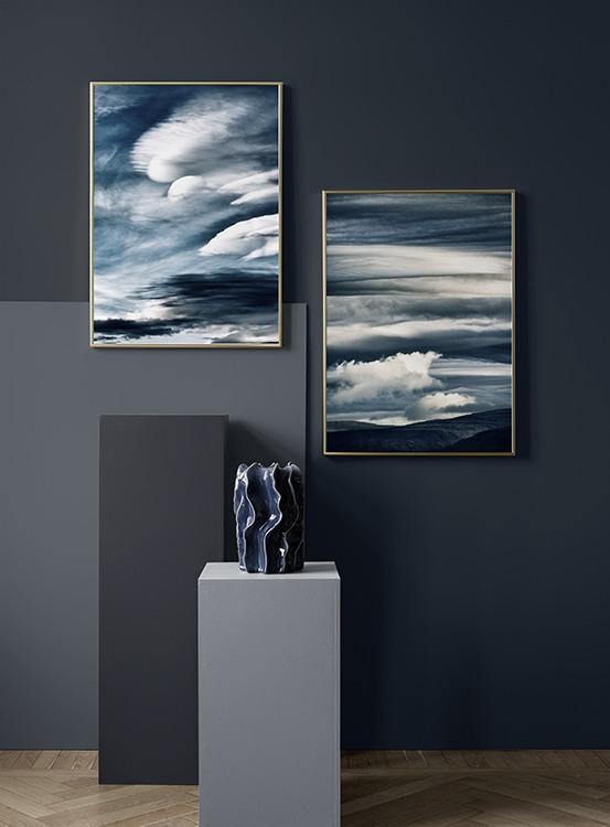 Abstrakte Poster in Blau
