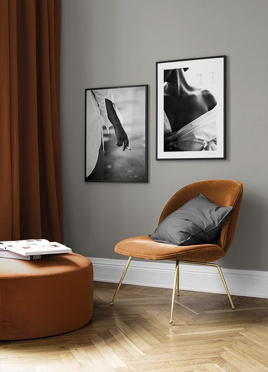 Stilvolles Posterpaar mit Schwarz-weiß-Fotomotiven